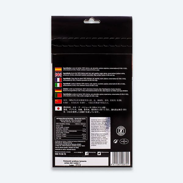 Reverso sobre Lomo de Bellota 100% Ibérico Alta Expresión | Ibéricos COVAP